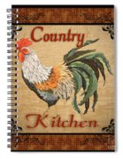 Country Kitchen Rooster Spiral Notebook