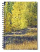 Country Lane Digital Oil Painting Spiral Notebook