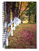 Country Lane Fall Foliage Vermont Spiral Notebook