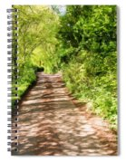 Country Lane Painting Spiral Notebook