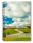 Country Living Painted Spiral Notebook