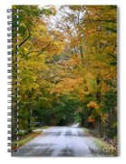 Country Road Fall Vermont Spiral Notebook