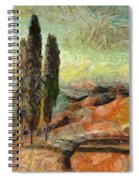 A Sunset In Tuscany Spiral Notebook