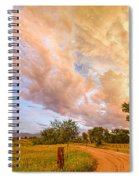 Country Road Into The Storm Front Spiral Notebook