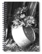 Country Summer - Bw 02 Spiral Notebook