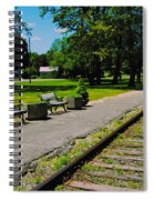 Country Train Station Spiral Notebook