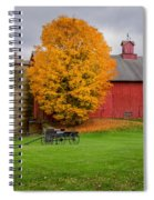 Country Wagon Square Spiral Notebook
