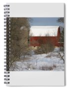 Country Winter Spiral Notebook