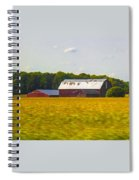 Countryside Landscape With Red Barns Spiral Notebook
