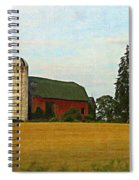 County Barn - Digital Painting Effect Spiral Notebook