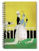 Couple At The Races, 1916 Spiral Notebook