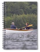 Couple Boating On Lake, Maine, Usa Spiral Notebook