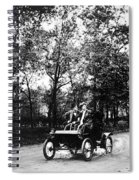 Couple Driving, C1907 Spiral Notebook