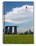Couple Flies Kite Marina Bay Sands Singapore Spiral Notebook
