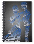 Couple Love Typography Spiral Notebook