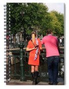Couple On The Bridge Spiral Notebook