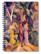 Couple On The Forest Track Spiral Notebook