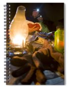 Couple Reading By Lantern, India Spiral Notebook