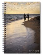 Couple Walking On A Beach Spiral Notebook