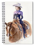 Horse Painting Cowgirl Courage Spiral Notebook