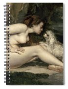 Courbet Nude Spiral Notebook