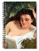 Courbet's A Young Woman Reading Spiral Notebook
