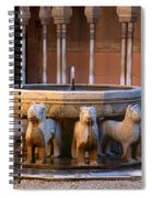 Court Of The Lions In The Alhambra Spiral Notebook