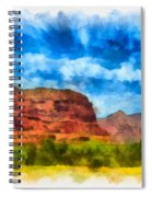 Courthouse Butte Sedona Arizona Spiral Notebook