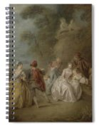 Courtly Scene In A Park, C.1730-35 Spiral Notebook