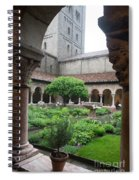 Courtyard At The Cloisters Spiral Notebook