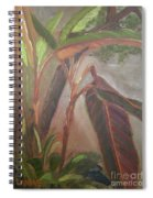 Courtyard Bananas Spiral Notebook