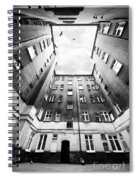 Courtyard In Black And White Spiral Notebook