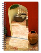 Courtyard Of A Villa Spiral Notebook