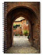 Courtyard Of Cathedral Of Ste-cecile In Albi France Spiral Notebook