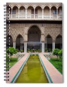 Courtyard Of The Maidens In Alcazar Palace Of Seville Spiral Notebook