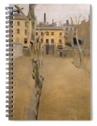 Courtyard Of The Old Barcelona Prison. Courtyard Of The Lambs Spiral Notebook