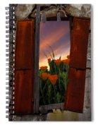 Courtyard Window Spiral Notebook