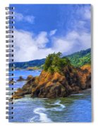 Cove On The Oregon Coast Spiral Notebook