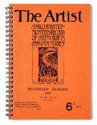 Cover For The Artist Magazine, November 1897 Spiral Notebook
