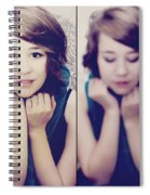 Cover Girl Diptych Spiral Notebook