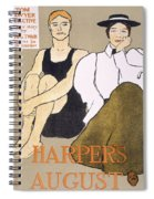 Cover Of Harpers Magazine, 1896 Spiral Notebook