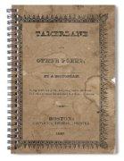 Cover Of Tamerlane Spiral Notebook