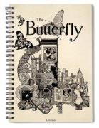 Cover Of The Butterfly Magazine Spiral Notebook