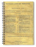 Cover Of The Southern Messenger Spiral Notebook