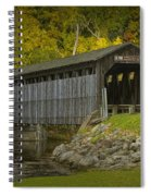 Covered Bridge In Fall Spiral Notebook