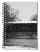 Covered Bridge In Winter Spiral Notebook