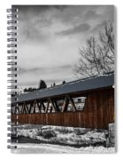 Covered Bridge Littleton New Hampshire 3 Spiral Notebook
