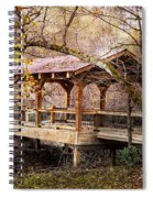 Covered Bridge On The River Walk Spiral Notebook