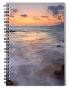 Covered By The Sea Spiral Notebook