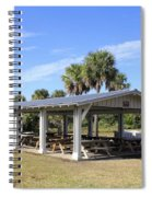 Covered Picnic Tables Spiral Notebook